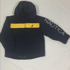 nautica toddler  zip up hooded jacket size 6-12 mo
